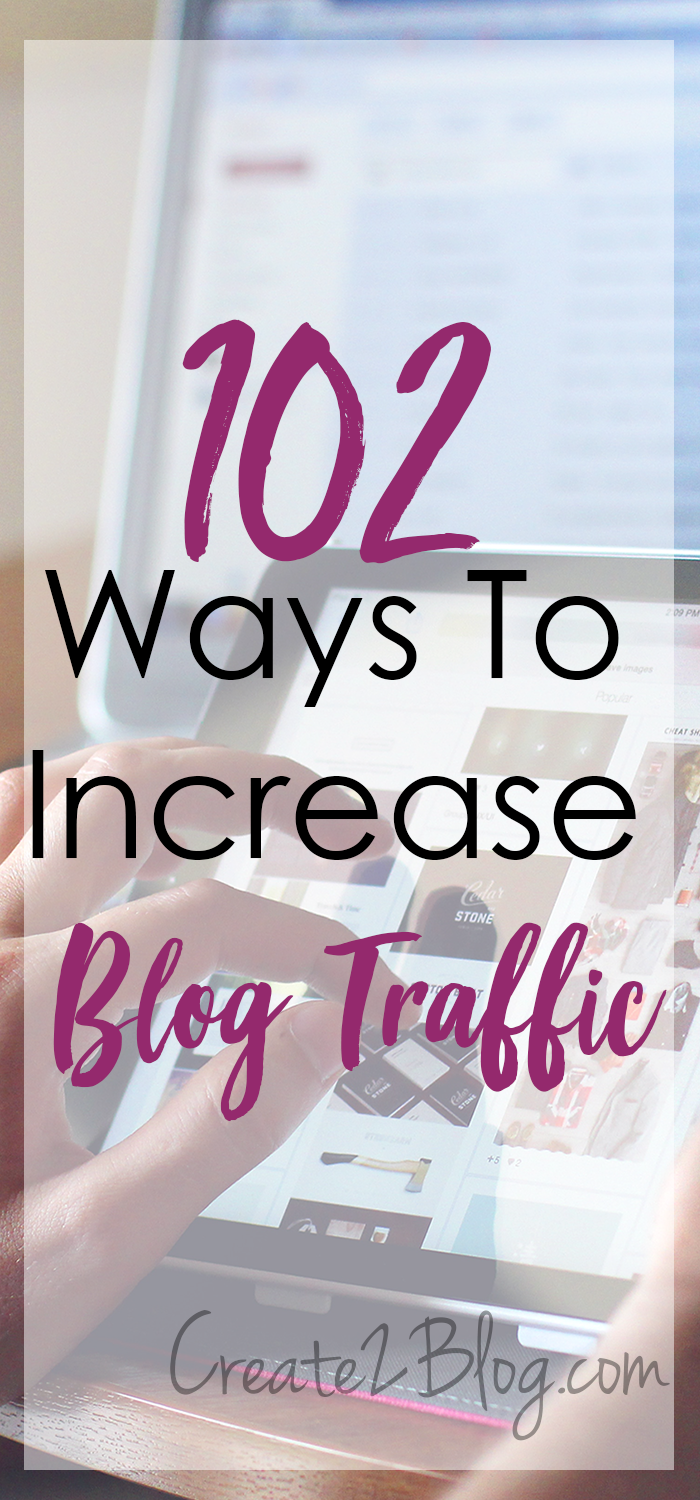102 ways to increase blog traffic