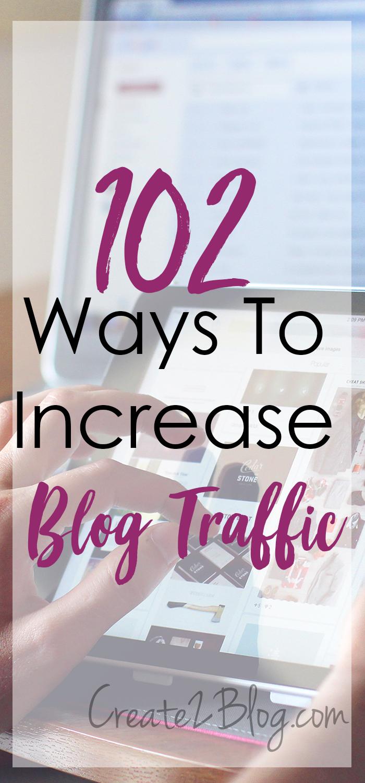 102 ways to increase blog traffic
