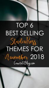 top 6 best selling studiopress themes for November 2018